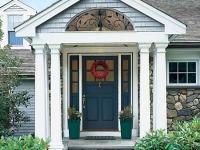 Tapered Columns at porch